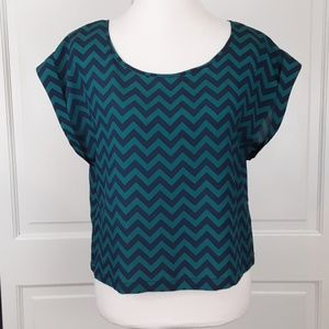 Chevron print top